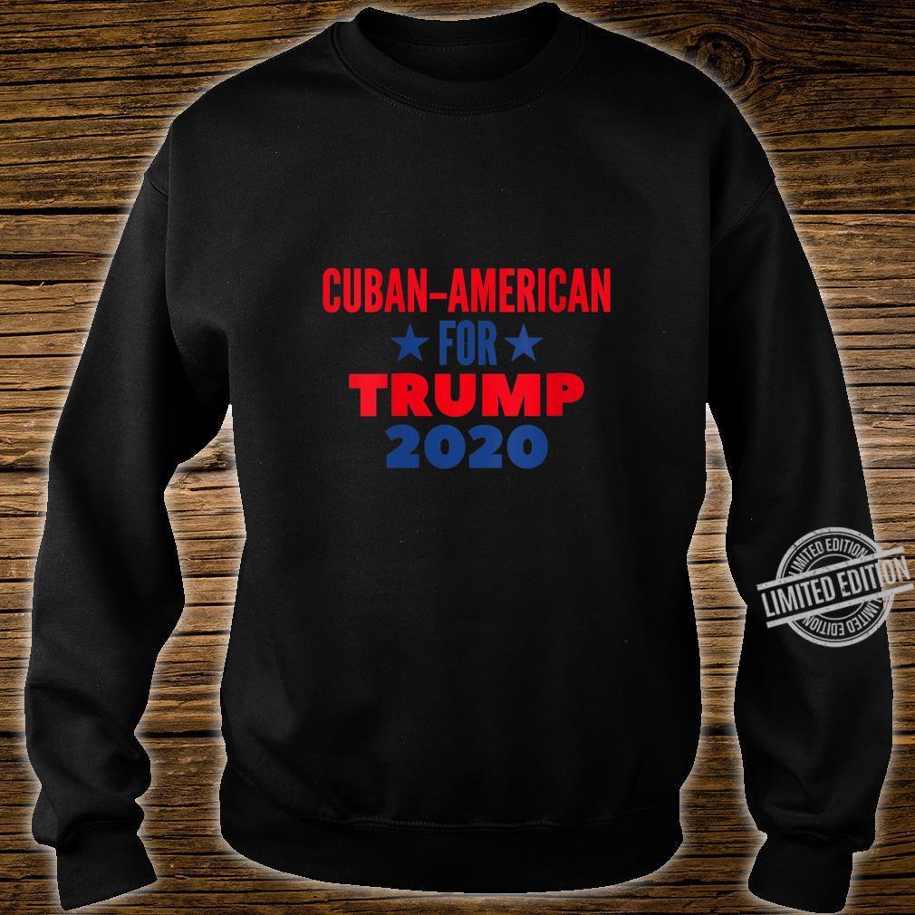 Womens Cuban American For Trump 2020 Shirt sweater