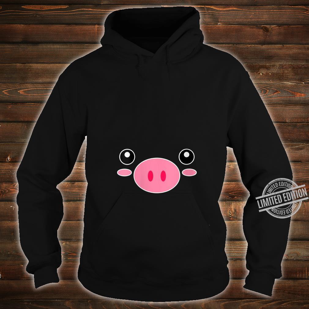 Womens Pig Face Cute Halloween Animal Pig Costume Shirt hoodie