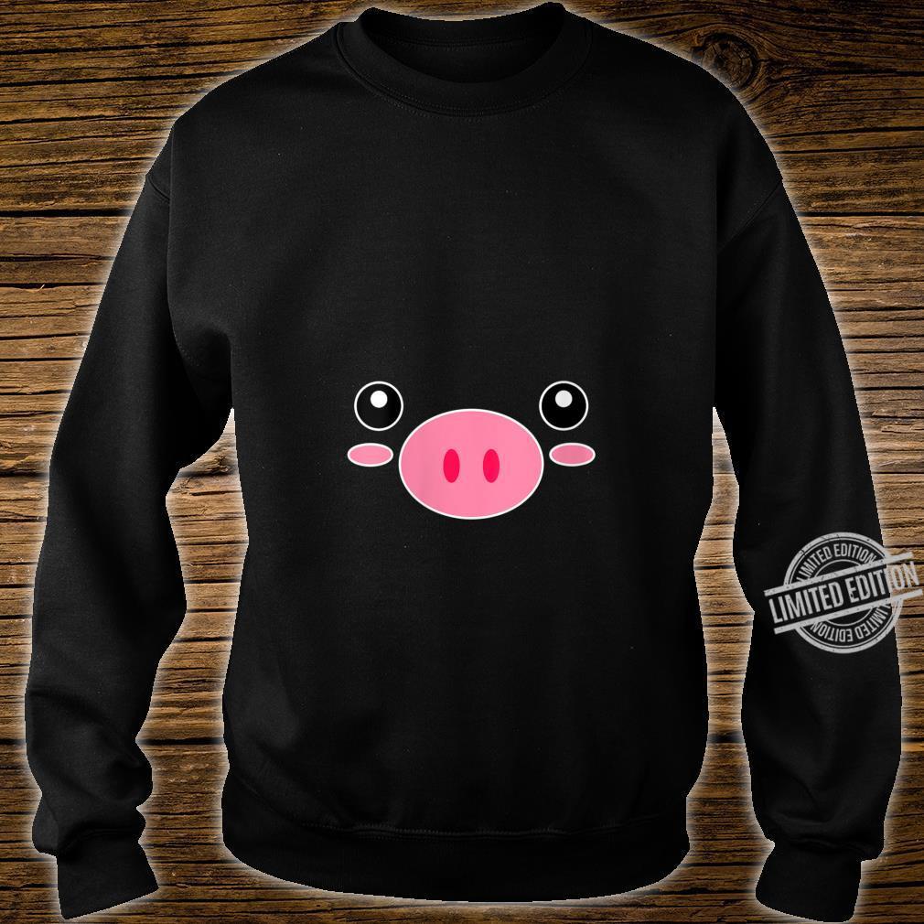 Womens Pig Face Cute Halloween Animal Pig Costume Shirt sweater