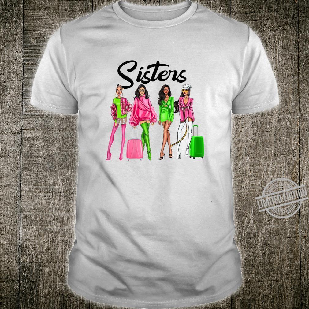 Womens Sister Afro Hair Melanin Black Friend Matching Shirt